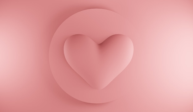 최소한의 심장 아이콘입니다. 그라디언트 모양 구성.