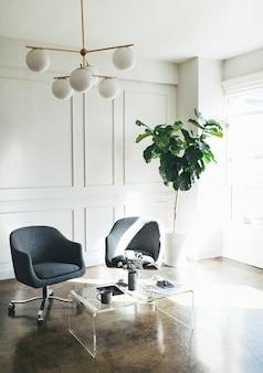 Minimal interior office space design