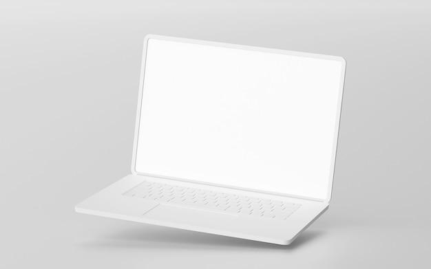 최소 노트북 빈 화면 모형