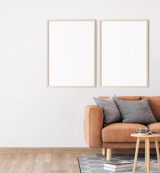 Minimal living room with a modern sofa