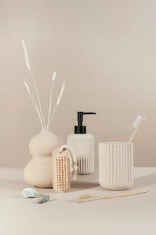 Minimal and natural bathroom essentials