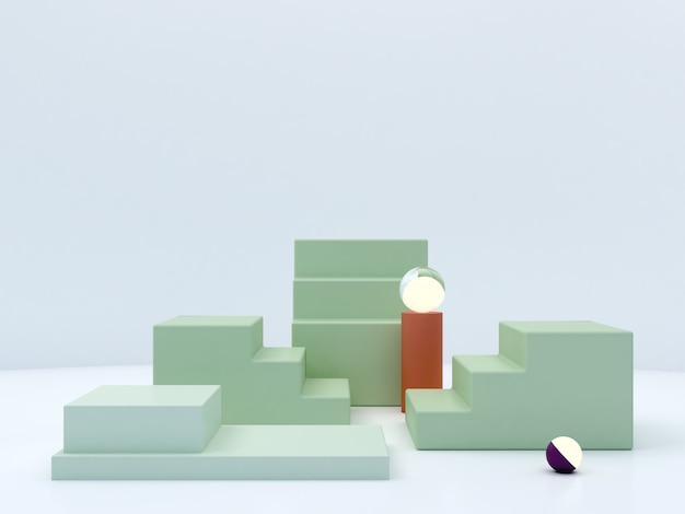 Minimal pastel colors podium to show a product