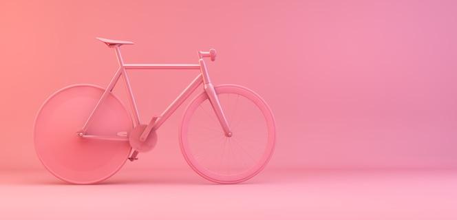 Minimal pink bike