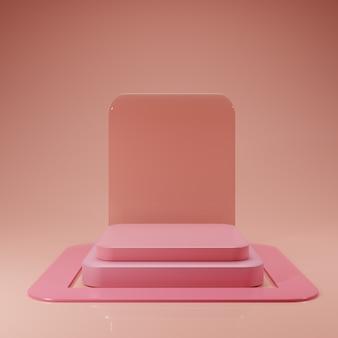 Минимальный розовый подиум макет