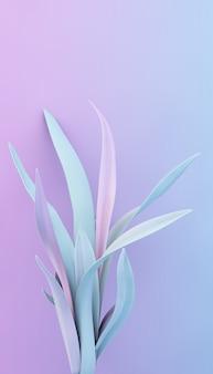 Minimal plant purple and blue