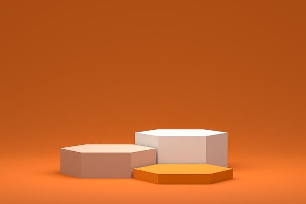 Минимальный подиум или пьедестал на фоне ccc для презентации косметической продукции