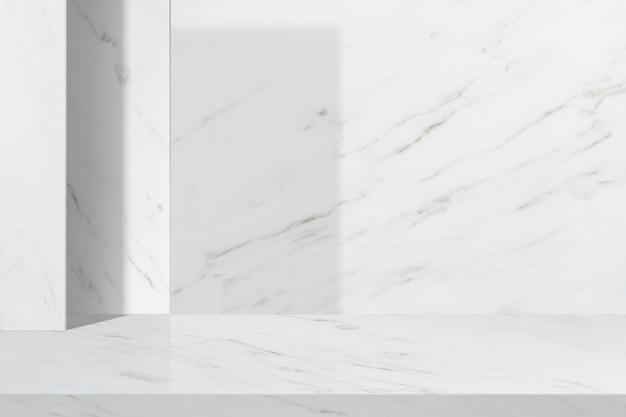 흰색 대리석의 최소한의 제품 배경