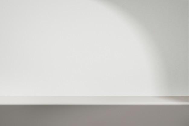 흰색으로 된 최소한의 제품 배경