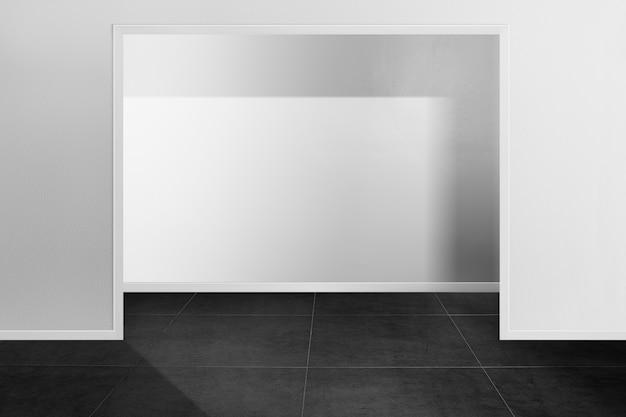 Fondale prodotto minimale in bianco e nero