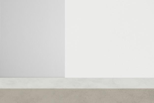 Sfondo del prodotto minimale con trama di sfondo bianca