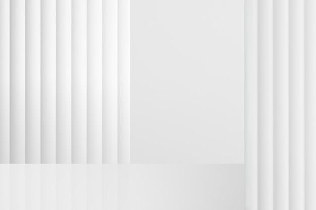 Fondale prodotto minimale con parete bianca