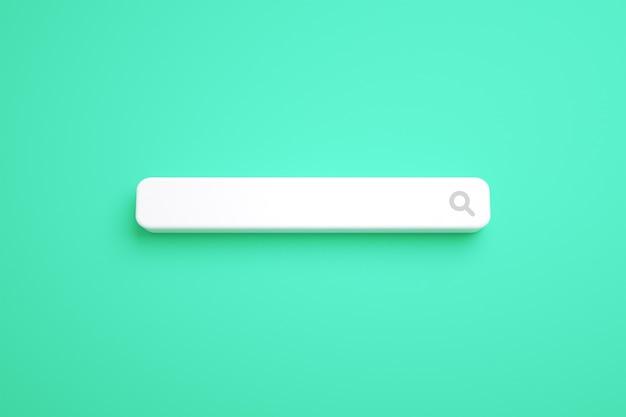 Minimal search bar template on backgorund premium photo