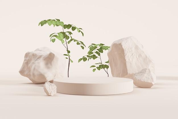 Минимальный этап с растениями и камнями