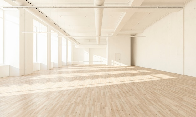 Минимальный белый зал