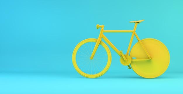 Minimal yellow bike