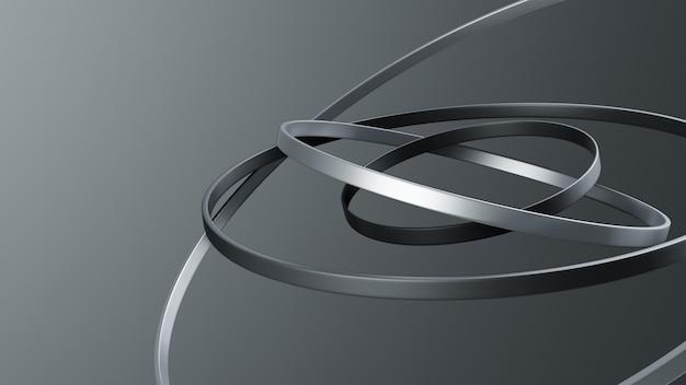 Минималистское 3d геометрическое кольцо с орбитой