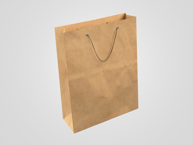 Minimalist 3d paper shopping bag