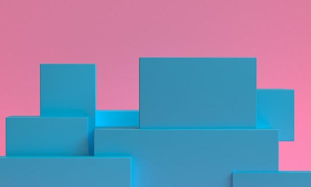 Минималистский абстрактный фон, примитивные геометрические, 3d-рендеринг.
