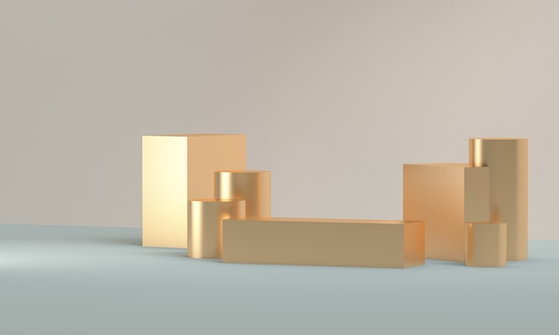 Minimalist abstract background, primitive geometrical figures, 3d render.