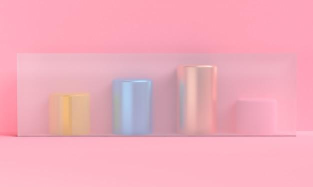 Minimalist abstract background, primitive geometrical figures, 3d render.