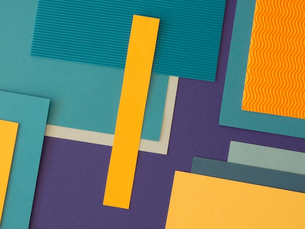 Minimalist abstract geometric shapes from paper