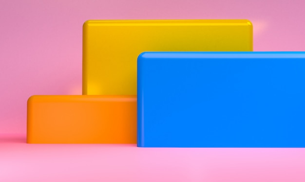 Minimalist abstract geometrical figures background