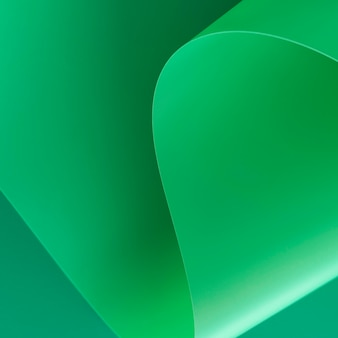 Minimalist abstract green paper close-up