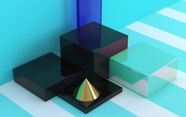 Минималистичные абстрактные, примитивные геометрические фигуры