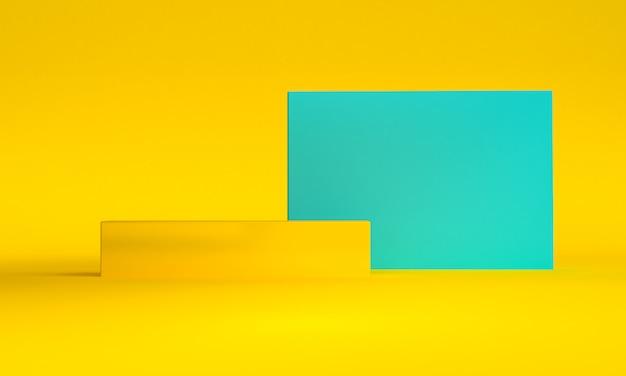 Minimalist abstract shape scene, 3d rendering.