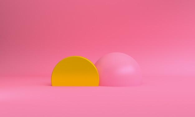 Минималистичные абстрактные формы, примитивные геометрические формы, 3d-рендеринг.