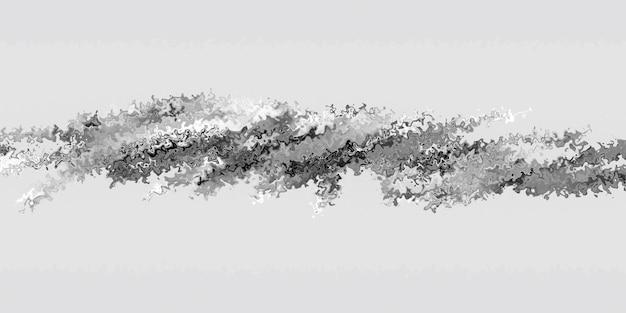 Минималистский фон с черно-белым шумом. футуристическая абстрактная научная фантастика. 3d визуализация смещенной поверхности. современный фоновый шаблон для документов, отчетов и презентаций. Premium Фотографии
