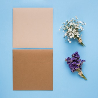 Minimalist beautiful wedding invitations