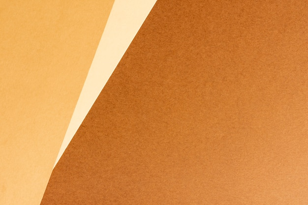 Minimalist blank brown cardboard sheets with copy space
