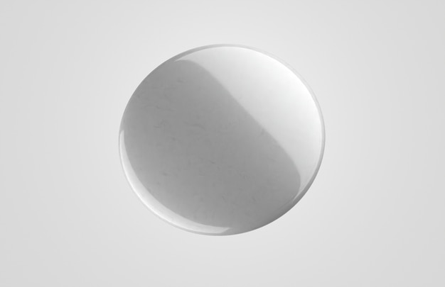 Minimalist blank white 3d badge