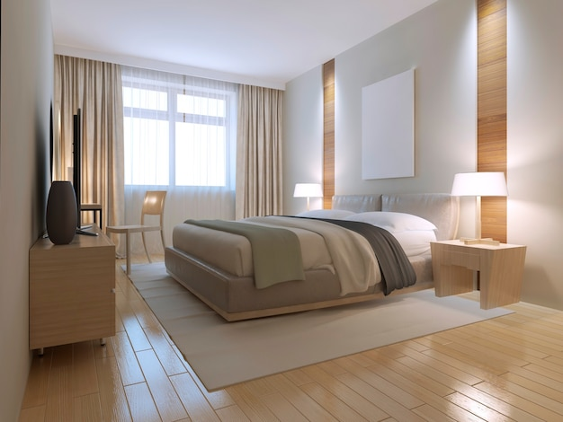 Minimalist brown bedroom trend design