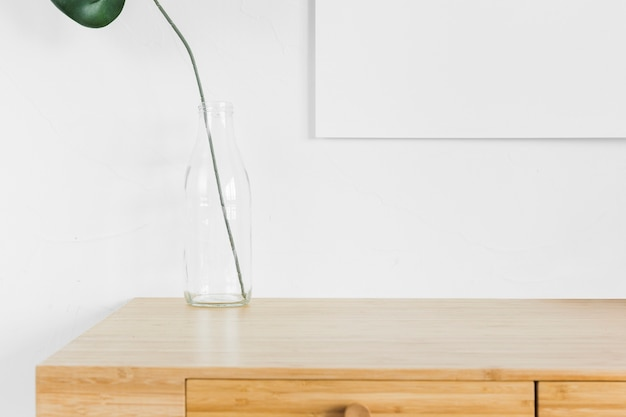 Minimalist composition with modern furniture