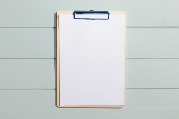 Minimalist copy space clipboard top view