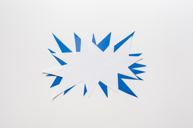 Minimalist empty blue and white card