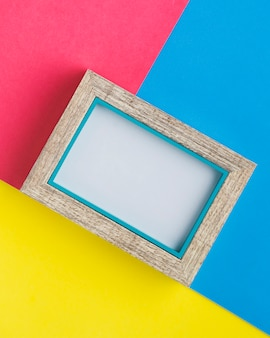 Minimalist frame with colorful background