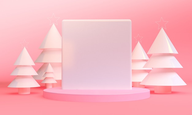 Minimalist geometric christmas themes scene