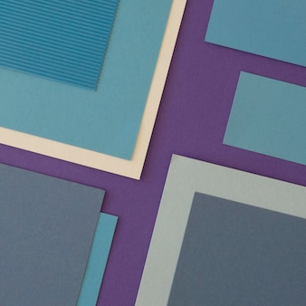 Forme geometriche minimaliste di carta