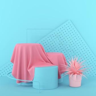 Минималистский макет подиум или витрина