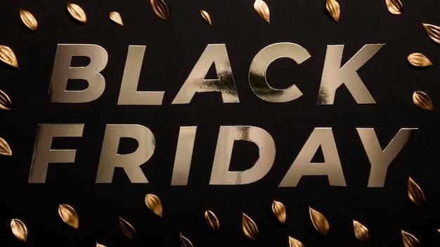 Concetto di venerdì nero dorato pastello minimalista