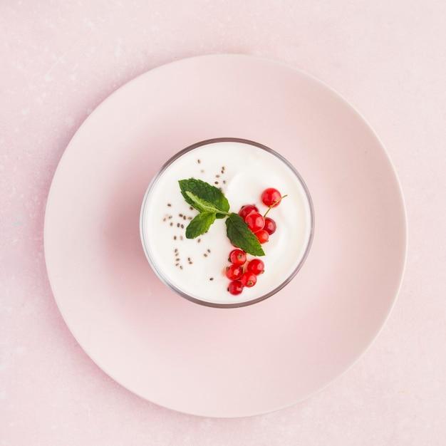 Minimalist plates with bio food lifestyle concept