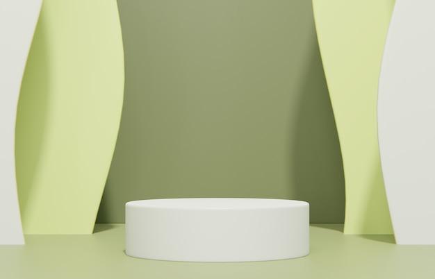 Composizione della scena minimalista per la presentazione del prodotto