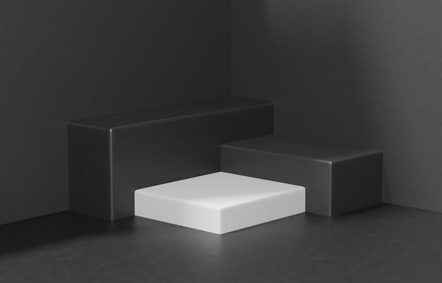 Minimalist scene composition for product presentation