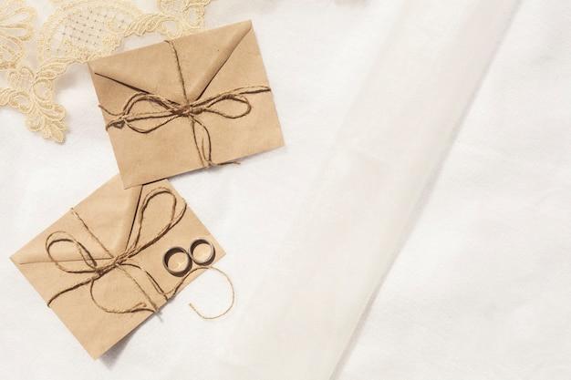Minimalist wedding decoration with copy space