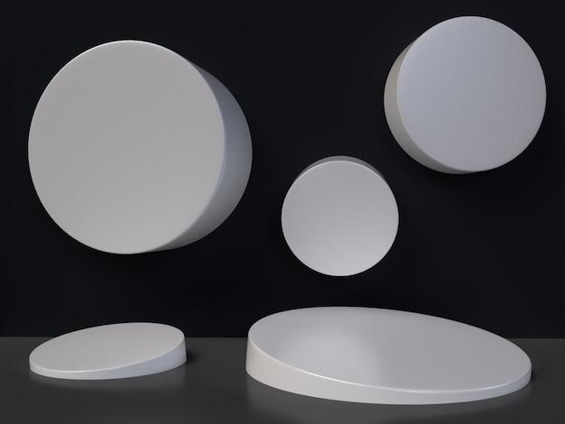 Minimalistic 3d rendering abstract geometric shape.