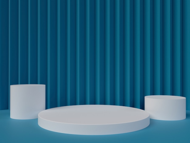 Minimalistic 3d rendering abstract geometric shape