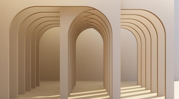 Minimalistic arch hallway